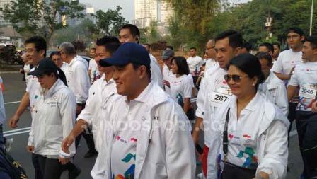 Acara Olympic Day Run diikuti orang penting seperti, Erick Thohir.