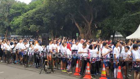 Antrean panjang di acara Olympic Day Run.