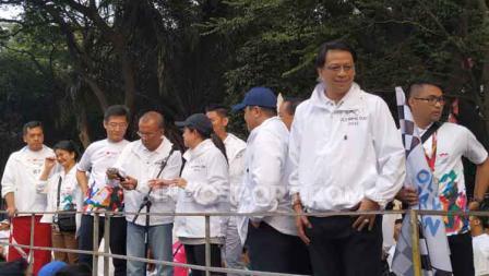 Beberapa pejabat akan memberikan sambutan di acara Olympic Day Run.