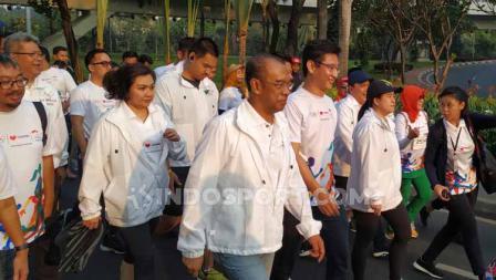 Sekretaris Menpora Gatot S Dewa Broto turut mengikuti acara Olympic Day Run.