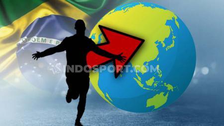 Brasil menjadi salah satu negara yang paling banyak menyumbang pemain dalam kompetisi sepak bola Indonesia. - INDOSPORT