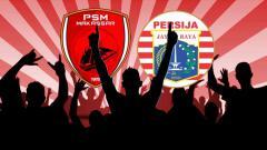 Indosport - Logo PSM Makassar vs Persija Jakarta