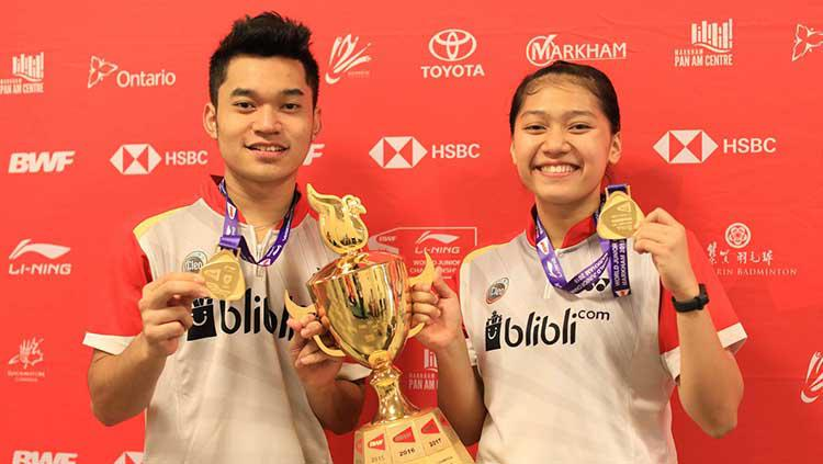 Leo Rolly Carnando dan Indah Cahya Sari Jamil. Copyright: Badmintonindonesia.org