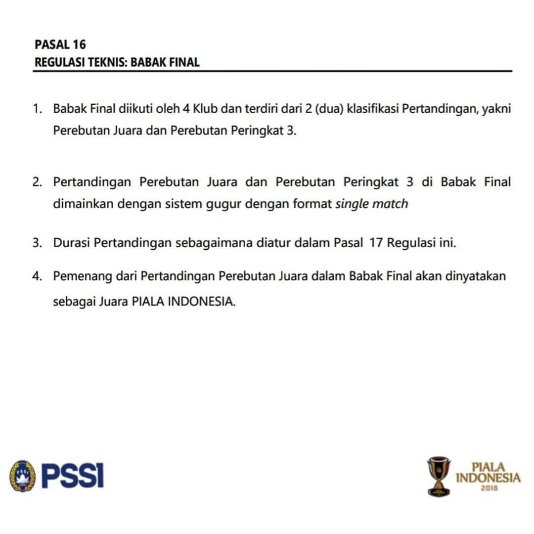 Regulasi teknik PSSI soal babak final. Copyright: Instagram@akmalmarhali20