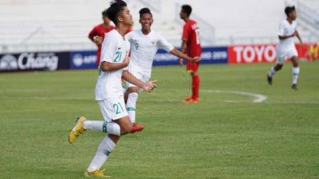 Penyerang Timnas Indonesia U-15, Muhammad Valeron. - INDOSPORT