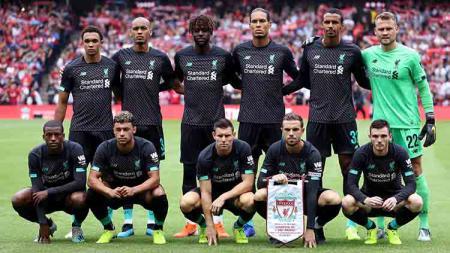 Skuat Liverpool pada laga persahabatan melawan Napoli di Murrayfield (28/07/19). Ian MacNicol/Getty Images - INDOSPORT
