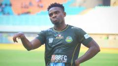 Indosport - Osas Saha, striker klub Liga 1 2019, Tira Persikabo.