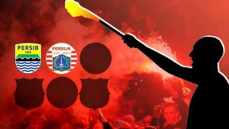 Termasuk Persija dan Persib 6 klub dunia yang pernah diteror terduga suporter dengan petasan. - INDOSPORT