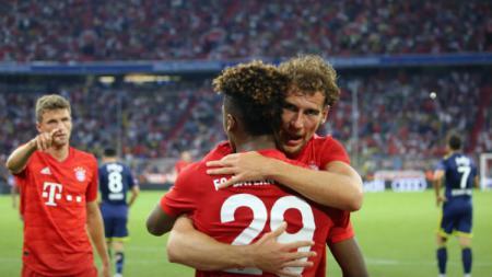 Selebrasi para pemain Bayern Munchen saat kalahkan Fenerbahce di semifinal Audi Cup 2019. - INDOSPORT