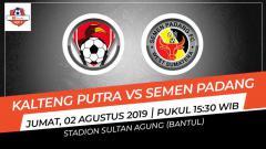 Indosport - Pertandingan Kalteng Putra vs Semen Padang.