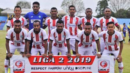Skuat PSBS Biak Numfor di Liga 2 2019. - INDOSPORT