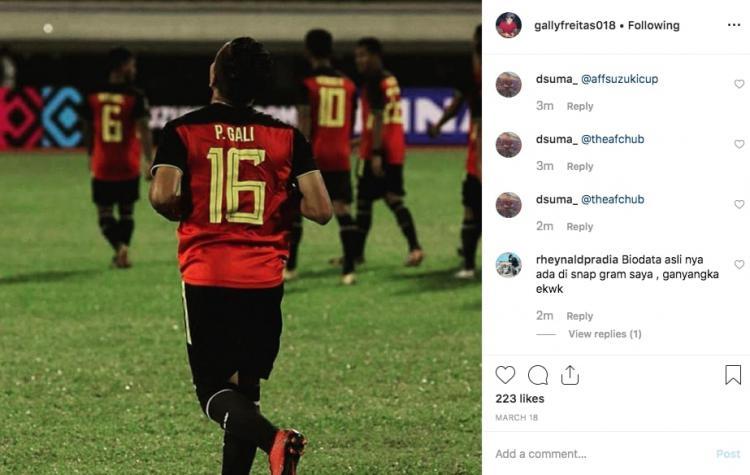 Paulo Domingos Gali da Costa Freitas diduga melakukan pencurian umur di Piala AFF U-15 2019. Copyright: instagram.com/gallyfreitas018