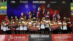 Indosport - Audisi Umum Djarum Beasiswa Bulutangkis 2019 yang digelar di GOR KONI, Kota Bandung.