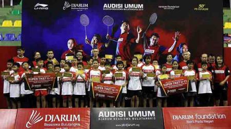 Audisi Umum Djarum Beasiswa Bulutangkis 2019 yang digelar di GOR KONI, Kota Bandung. - INDOSPORT