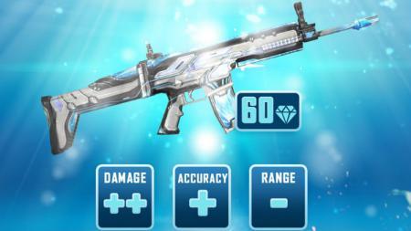 Skin Scar Deadly Water Strike untuk senjata Scar di game eSports Free Fire. - INDOSPORT