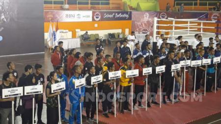 Kejuaraan Nasional Kickboxing Indonesia di Gor Pertamina Simprug, Jakarta Selatan (01/08/19). - INDOSPORT