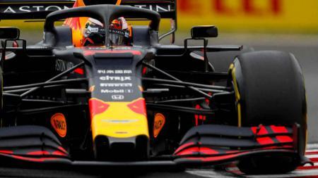 Pembalap Red Bull Racing Pierre Gasly di FP2 GP Hongaria. - INDOSPORT