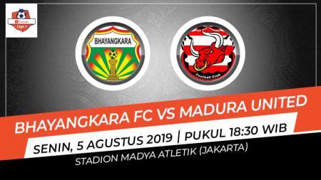 Pertandingan Bhayangkara FC vs Madura United. - INDOSPORT