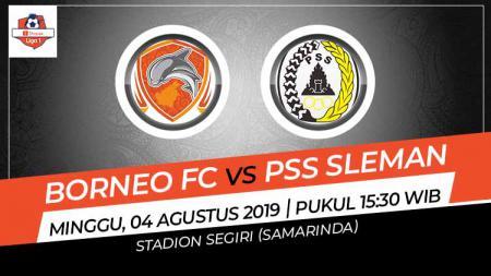 Pertandingan Borneo FC vs PSS Sleman. - INDOSPORT