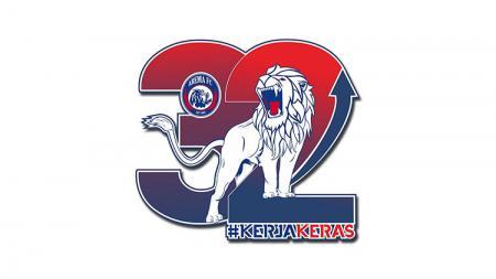 Arema FC luncurkan logo jelang hari ulang tahun ke-32 pada 11 Agustus 2019. - INDOSPORT