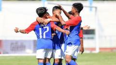 Indosport - Timnas Malaysia U-15 di Piala AFF U-15 2019.