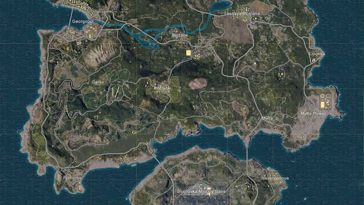 Map Erangel di game PUBG Mobile Copyright: pubg.fandom.com
