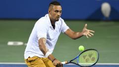 Indosport - Nick Kyrgios di turnamen tenis Citi Open 2019.