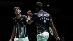 Indosport - Nasib buruk harus dialami oleh ganda putra India, Chirag Shetty/Satwiksairaj Rankireddy di turnamen China Open 2019. Shi Tang/Getty Images