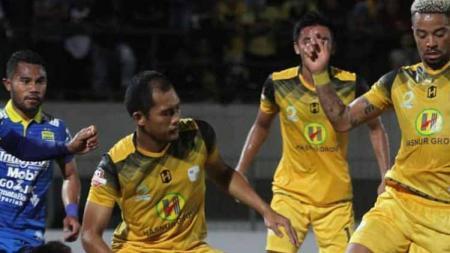 Situasi pertandingan Barito Putera vs Persib Bandung di Liga 1 2019 pekan ke-12. - INDOSPORT