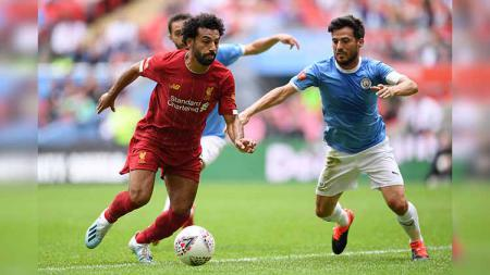 Kerusuhan di kereta bawah tanah London sempat warnai momen Community Shield 2019 Liverpool vs Manchester City. Laurence Griffiths/Getty Images. - INDOSPORT