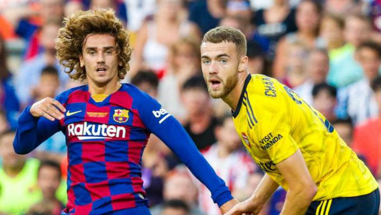 Griezmann dalam laga Piala Joan Gamper melawan arsenal, Senin (05/08/19). Copyright: twitter.com/FCBarcelona