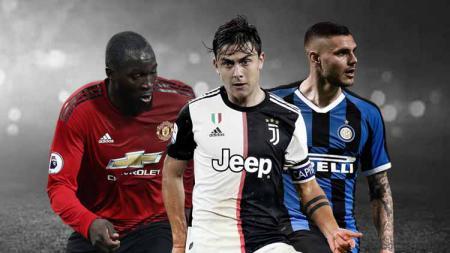 Romelu Lukaku, Paulo Dybala, dan Mauro Icardi ialah figur yang menggambarkan rumitnya bursa transfer musim panas ini. - INDOSPORT