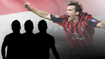 Andriy Shevchenko termasuk eks Milan yang pernah diisukan merapat ke klub Liga Indonesia. - INDOSPORT