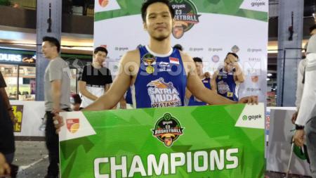 Audy Bagastyo kembali berhasil membawa Satria Muda menjadi juara di turnamen IBL Gojek 3X3 2019. - INDOSPORT