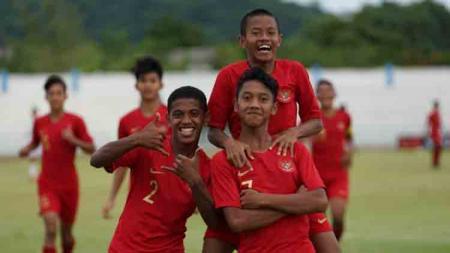 Tim nasional U-15 Indonesia melaju ke babak semifinal Piala AFF U-15 2019. - INDOSPORT