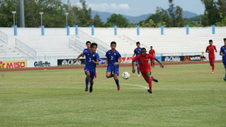 Alexandro Kamuru menyimpan cerita sedih sebelum bergabung dengan skuat Timnas Indonesia U-15. - INDOSPORT