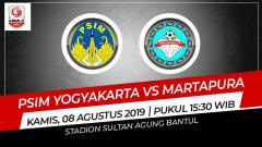 Indosport - Pertandingan PSIM Yogyakarta vs Martapura.