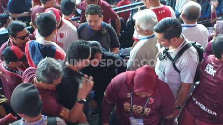 Semasa menjabat sebagai Sekjen PSSI, Ratu Tisha pernah mendapatkan momen dihujani kritikan pedas di Stadion Andi Mattalatta. - INDOSPORT