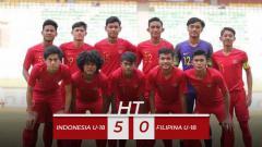 Indosport - Babak pertama pertandingan Timnas Indonesia U-18 vs Filipina U-18 di Piala AFF-U18.