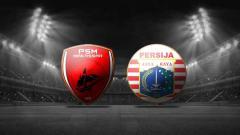 Indosport - Logo PSM Makassar vs Persija Jakarta di final Piala Indonesia 2019.