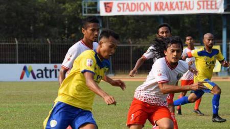 Cilegon United menang tipis atas tamunya Persibat Batang di Liga 2 2019 Stadion Krakatau Steel. - INDOSPORT