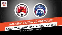 Indosport - Prediksi Kalteng Putra vs Arema FC di Liga 1 2019.
