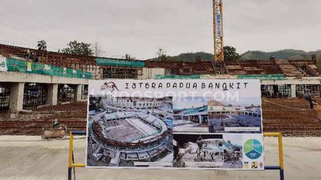 Istora Papua Bangkit yang tengah memasuki progres pembangunan 32 persen. Foto: Sudjarwo/INDOSPORT - INDOSPORT