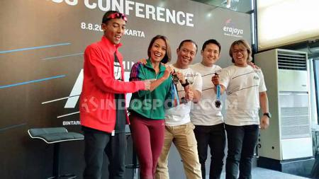 Konferensi pers Garmin Run Indonesia 2019. - INDOSPORT
