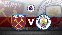 Indosport - Logo West Ham United vs Manchester City.