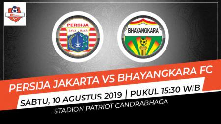 Kejadian unik terjadi pada laga Shopee Liga 1 2019 antara Persija Jakarta vs Bhayangkara FC, Sabtu (10/08/19). - INDOSPORT