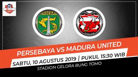 Link live streaming pertandingan sepak bola Liga 1 2019 antara Persebaya Surabaya menjamu Madura United. - INDOSPORT