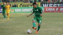 Indosport - Pemain muda PSMS Medan, Natanael Siringoringo. (Foto: Aldi Aulia Anwar/INDOSPORT)