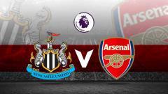Indosport - Logo Newcastle United vs Arsenal.