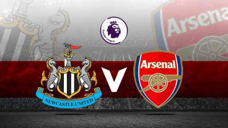 Logo Newcastle United vs Arsenal. - INDOSPORT